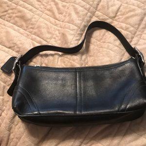 Black coach small evening bag